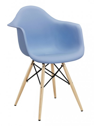 Blue Ceremony Wood Base Armchair e1435091311449