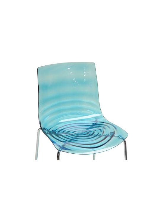 Blue Lucite Tide Chair 3