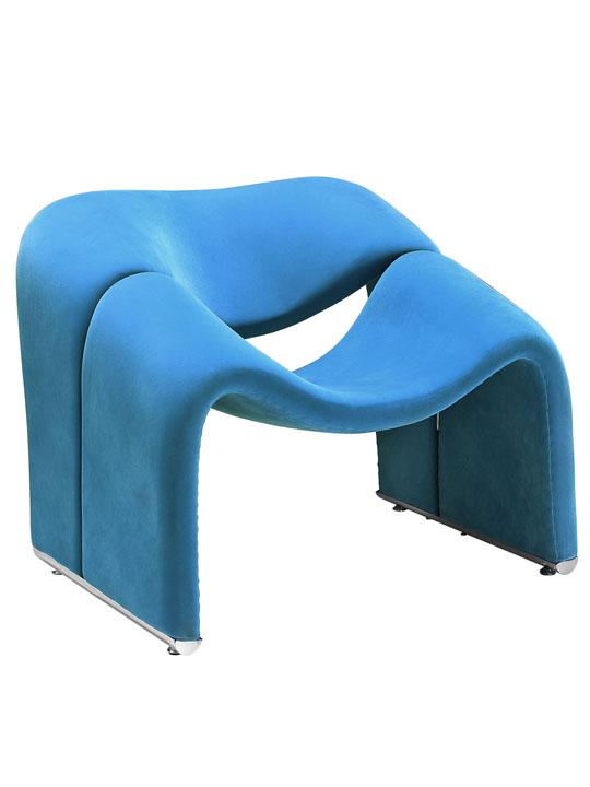 Blue Velocity Armchair