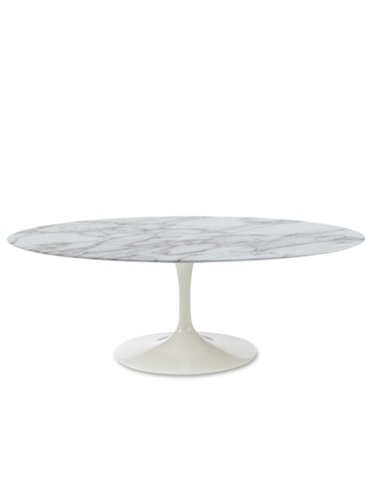 Brilliant Marble Oval Coffee Table
