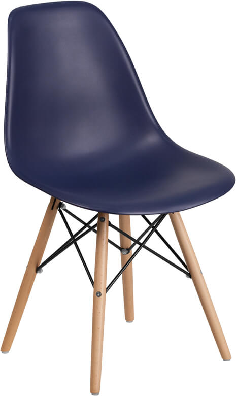 Ceremony Wood Chair peach navy blue