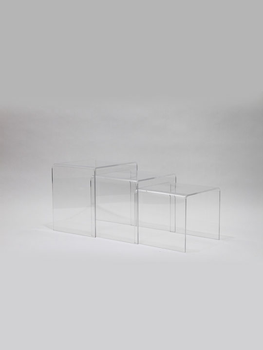 Clear 3 Ice Accent Table 8