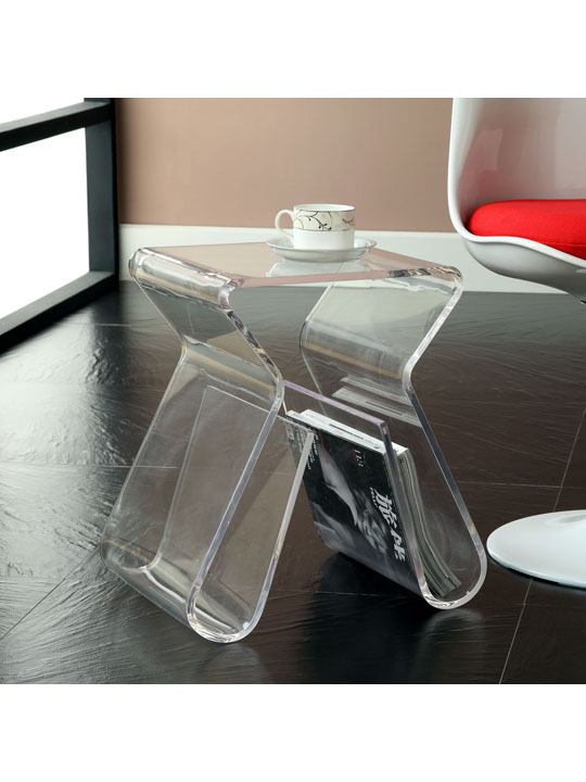 Acrylic Side Table Brickell Collection Modern Furniture