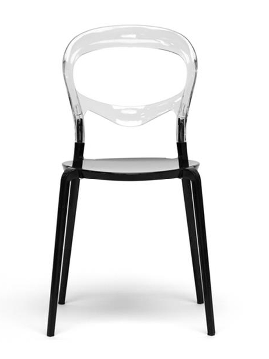 Clear Black Opaque Chair