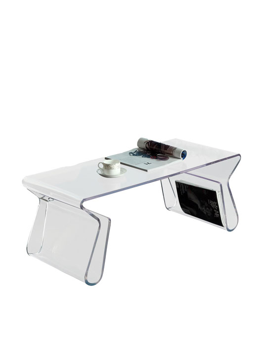 Clear Invisable Coffee Table
