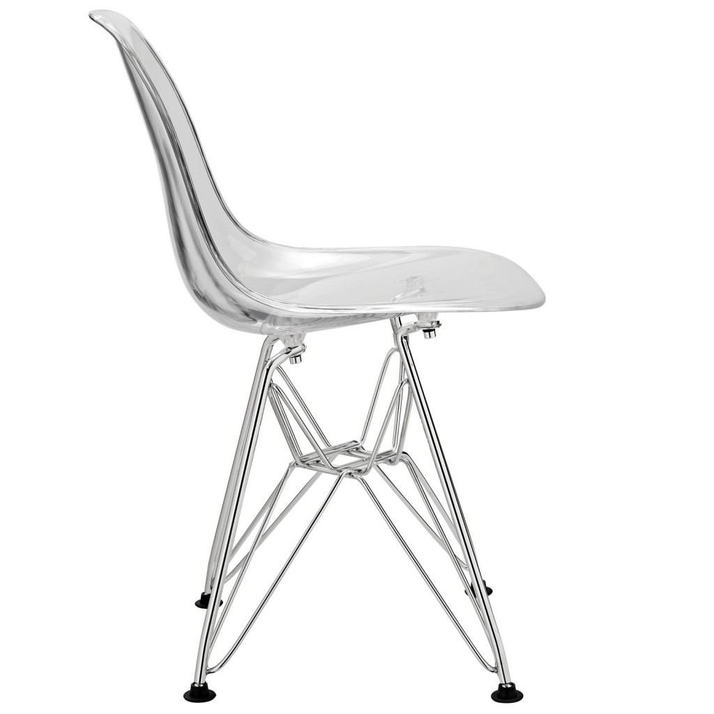 Clear Kids Wire Base Chair 2