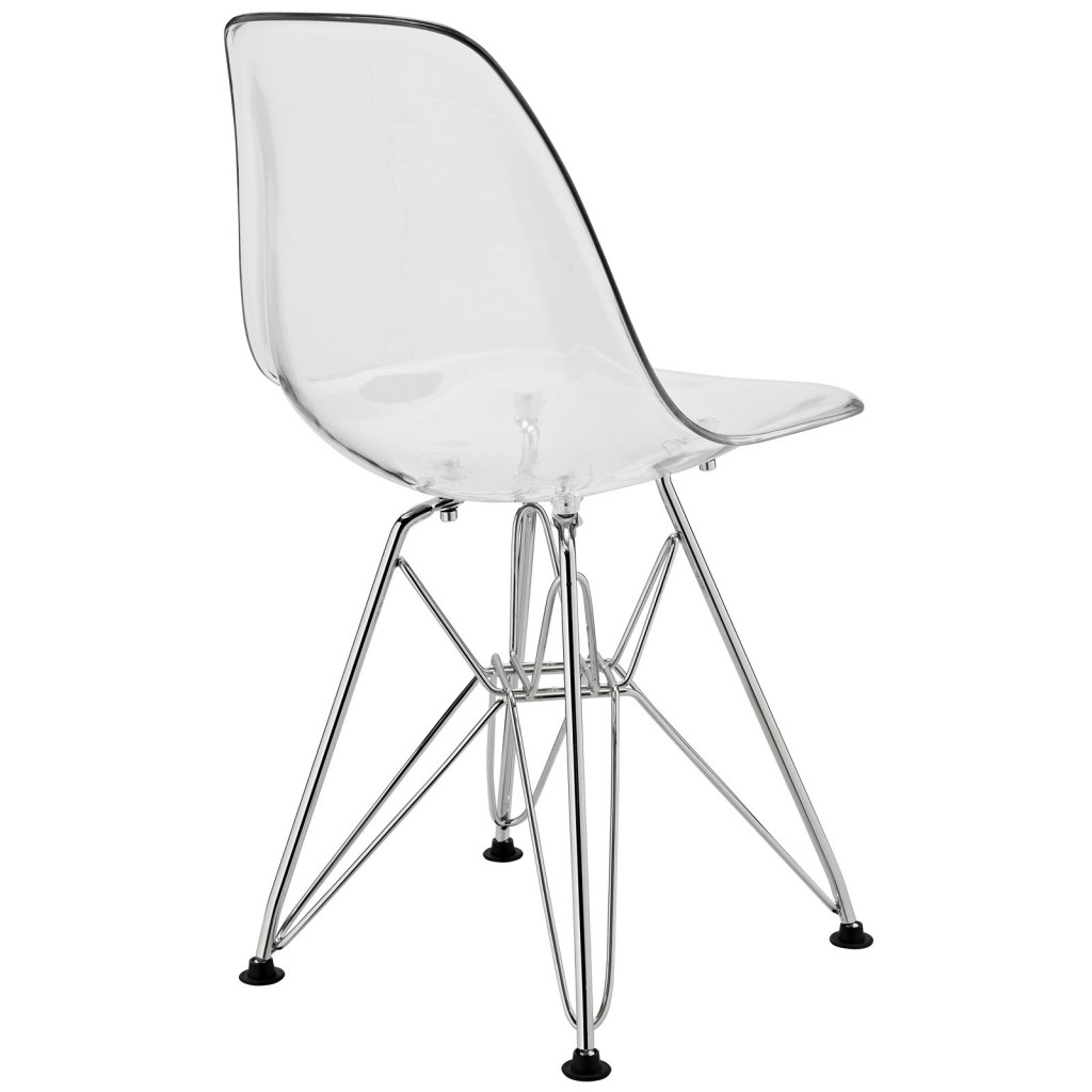 Clear Kids Wire Base Chair 3