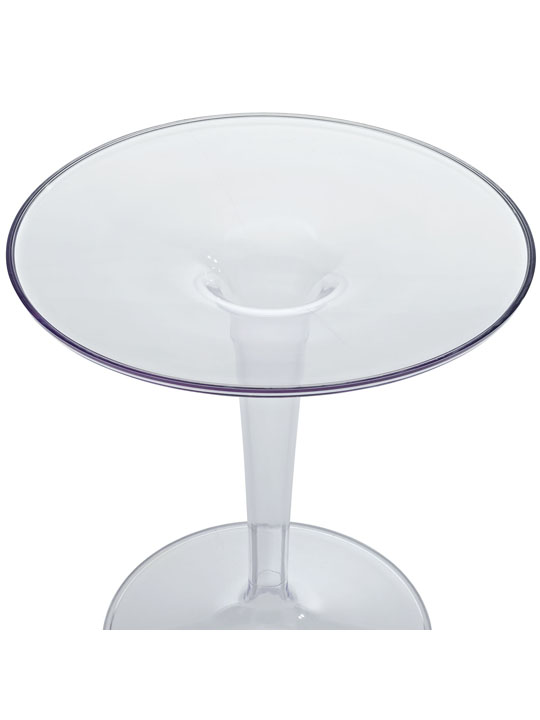 Clear Tulip Side Table1