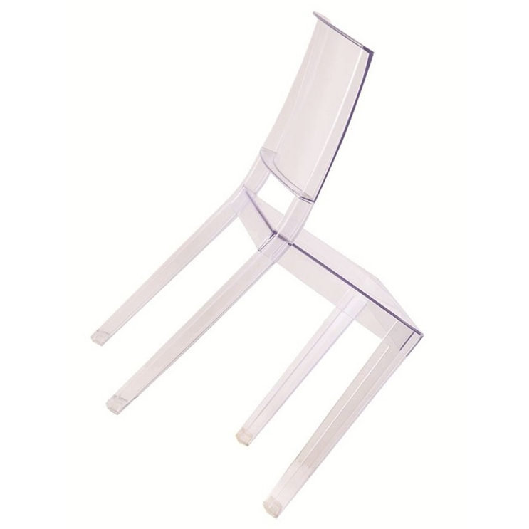 Clear Square Chair