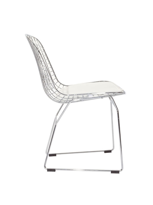 Dyson Wire Chair White Cushion 2