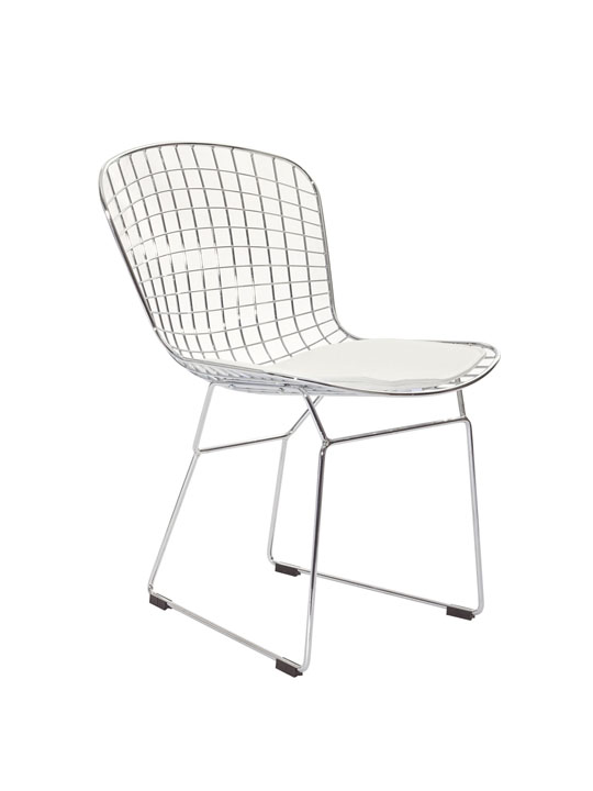 Dyson Wire Chair White Cushion