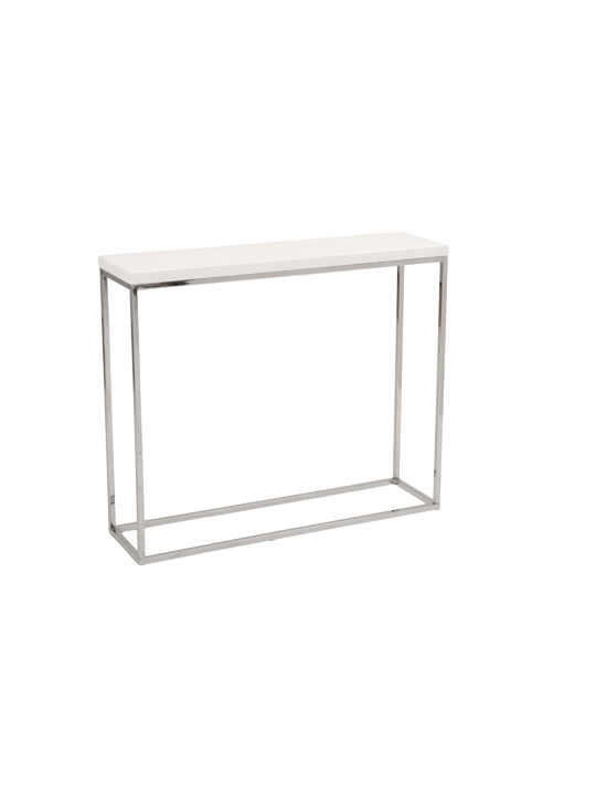 Float Console Table White 2