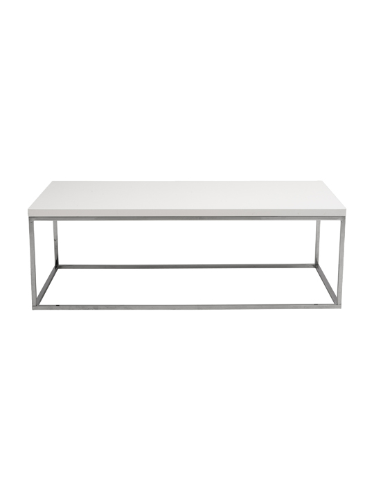 Float Rectangular Coffee Table White