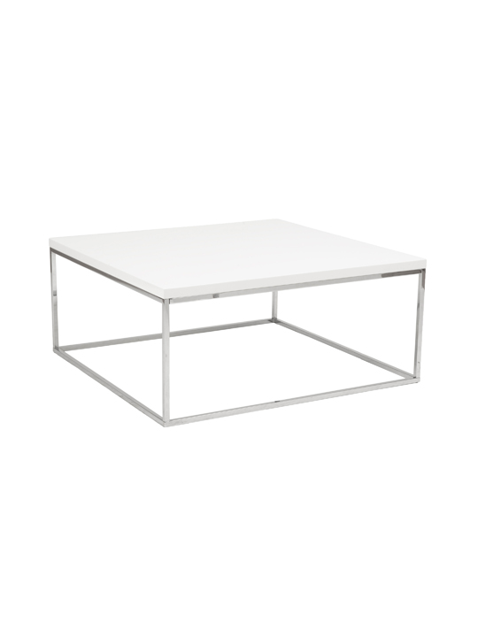 Float Square Coffee Table White 2