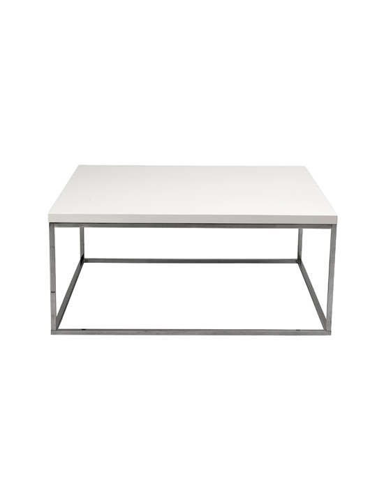 Float Square Coffee Table White