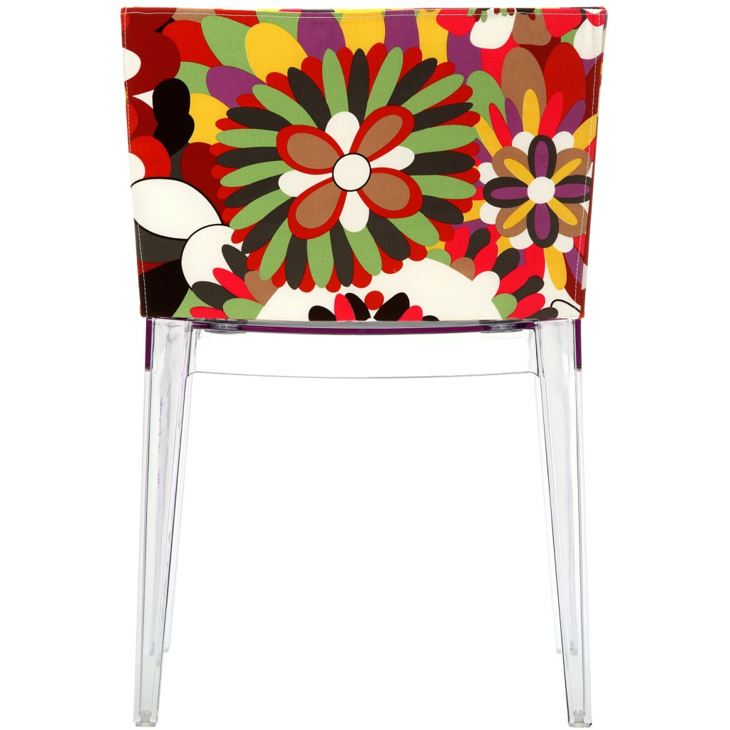 Floral No. 9 Chair Clear Legs 1