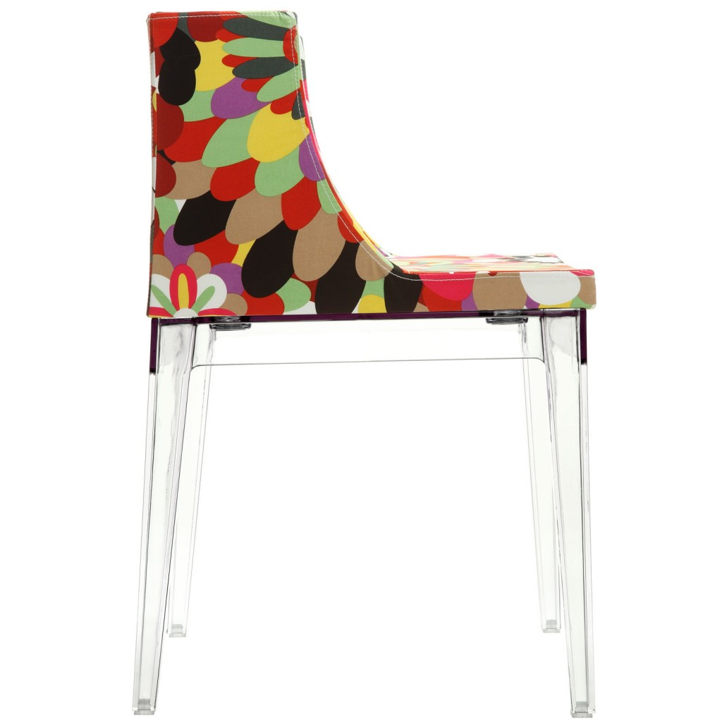 Floral No. 9 Chair Clear Legs