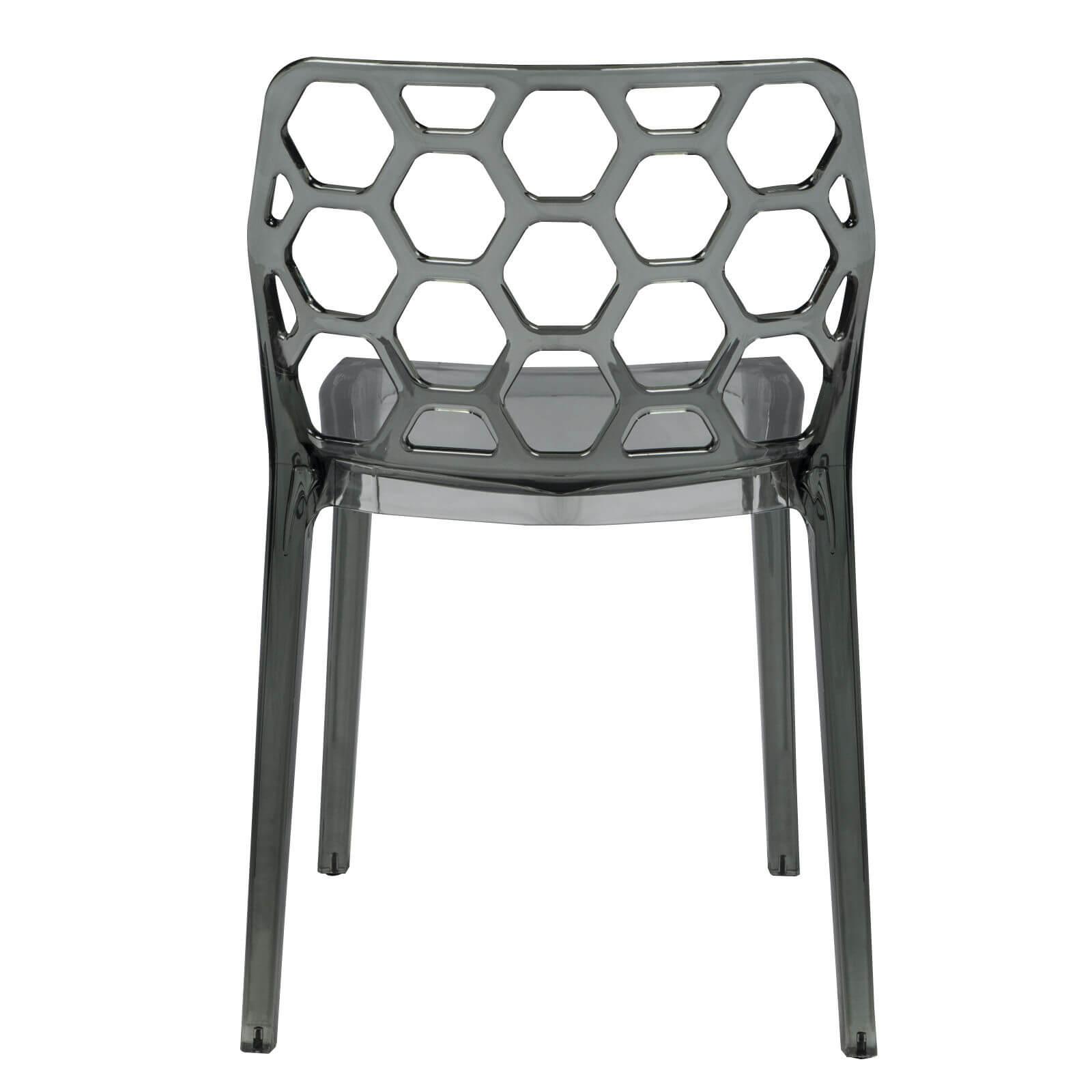 Geometric chair black transparent 4