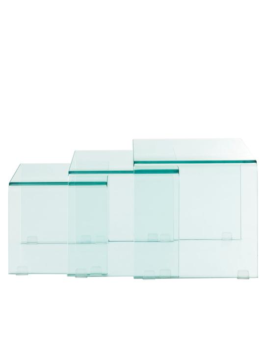 Glass Nesting Table Set