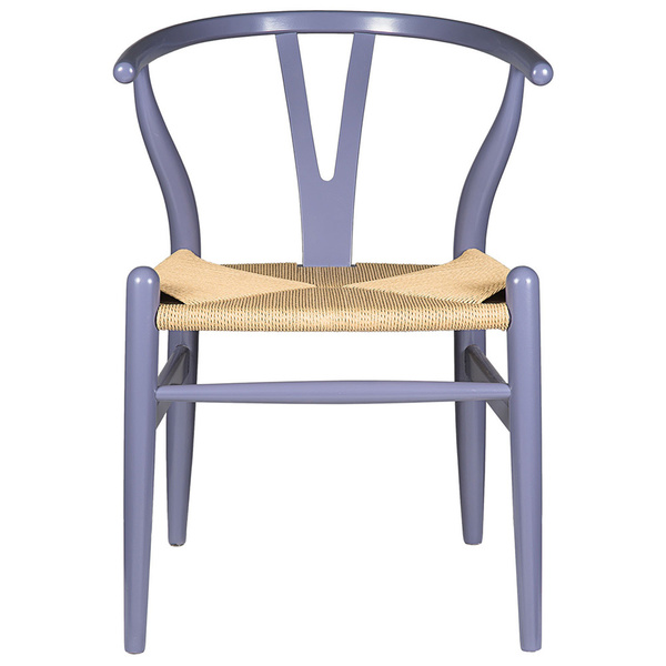 Gray Hemp Y Wishbone Chair