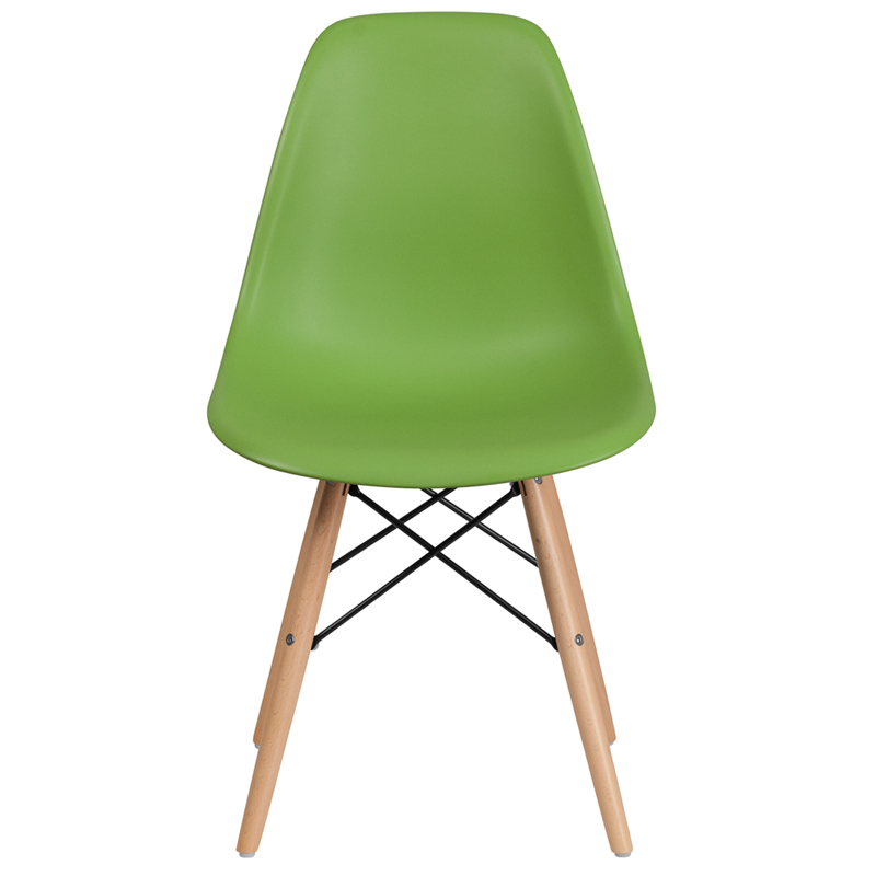 Green eames chair