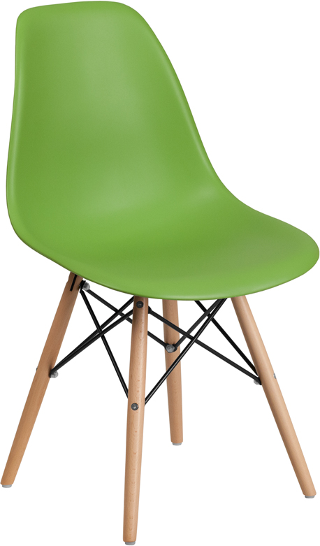 Green midcentury dining chair