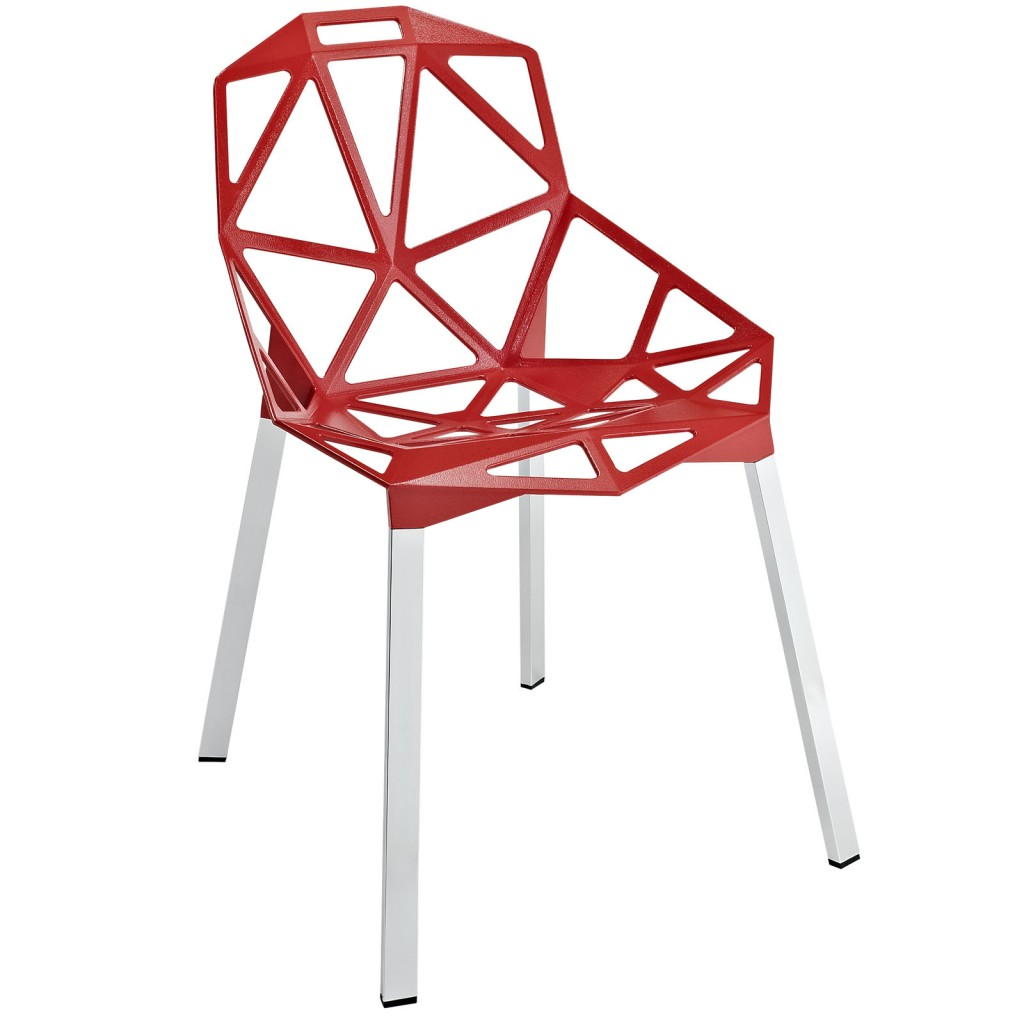 Grid Chair Red