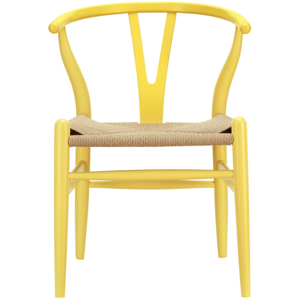Hemp Wishbone Chair Yellow 11