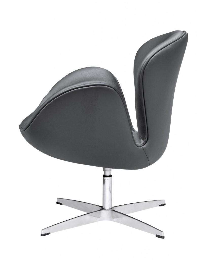 Hug Leather Chair Black 2