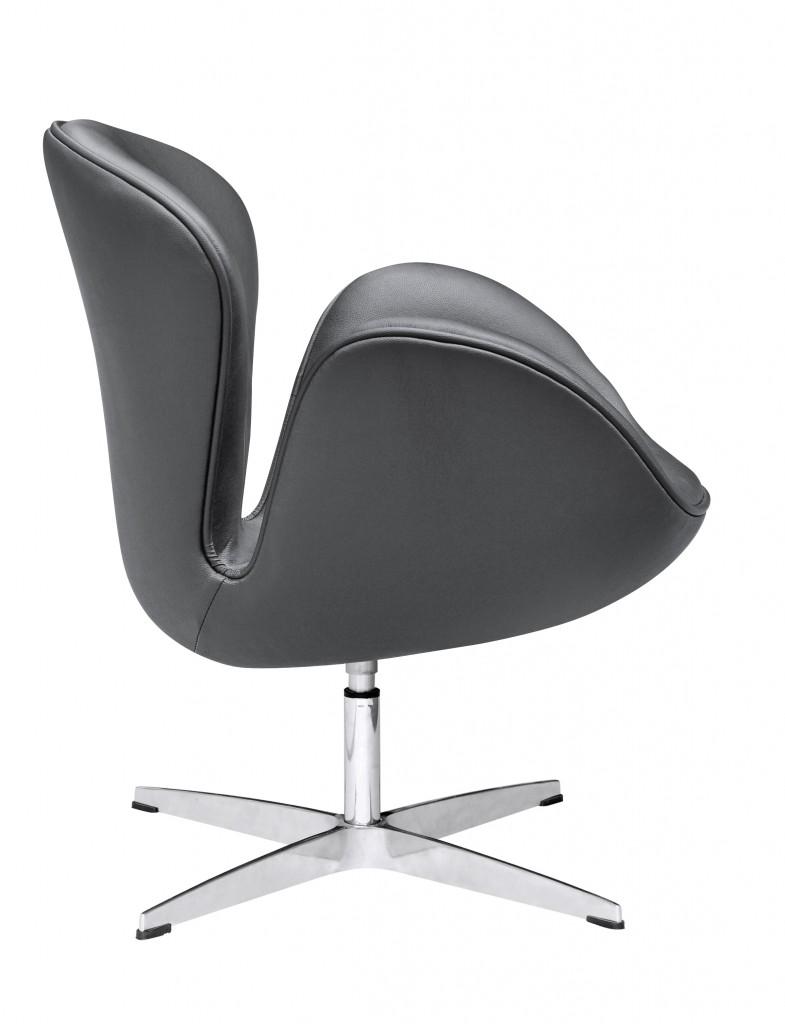 Hug Leather Chair Black 3