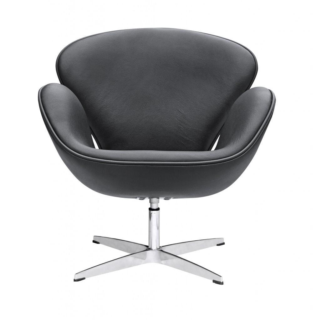 Hug Leather Chair Black 4