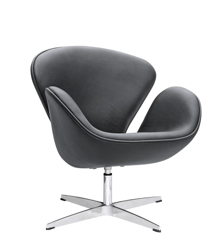 Hug Leather Chair Black 5
