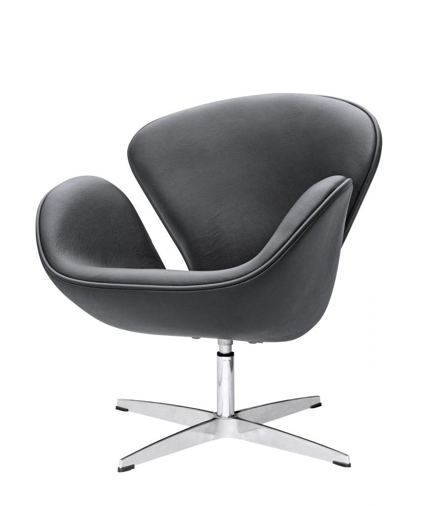 Hug Leather Chair Black 6