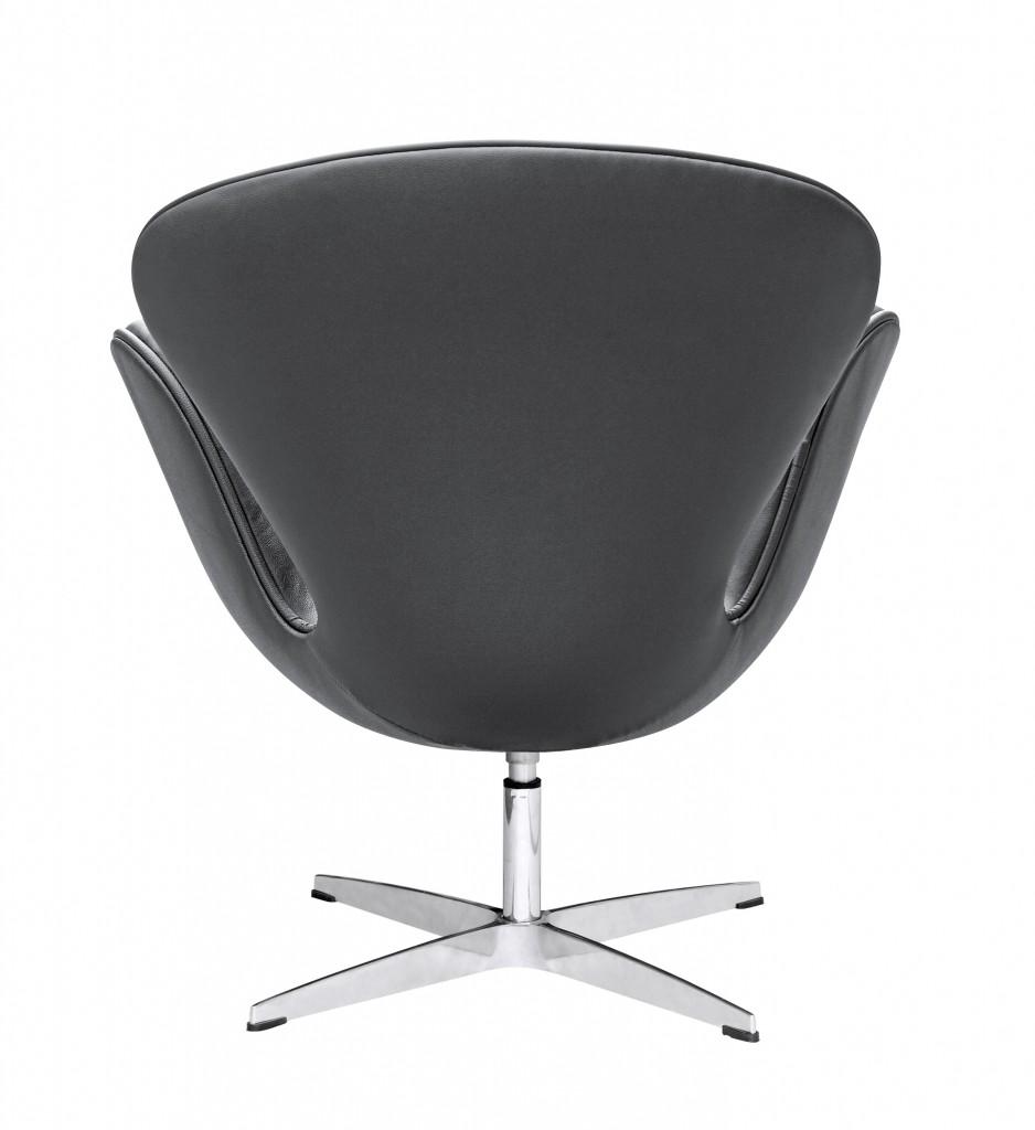 Hug Leather Chair Black
