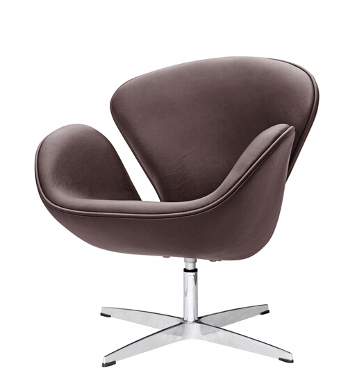Hug Leather Chair Brown 4