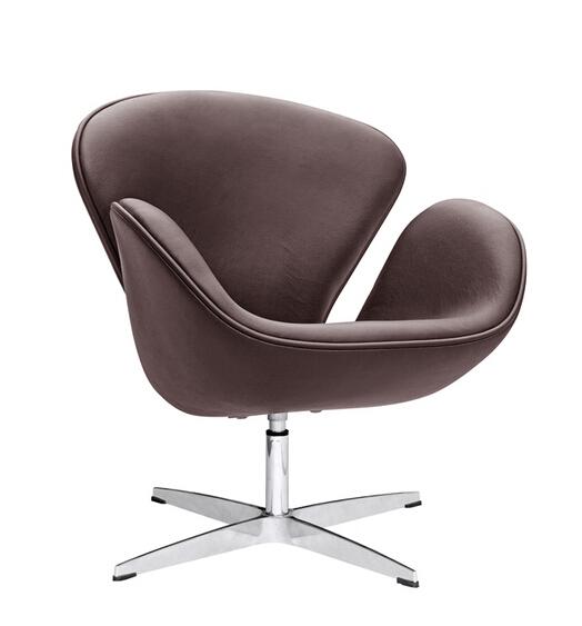 Hug Leather Chair Brown 5