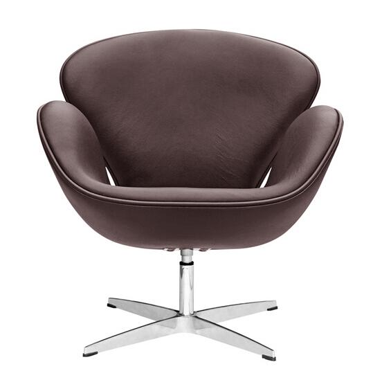 Hug Leather Chair Brown 6