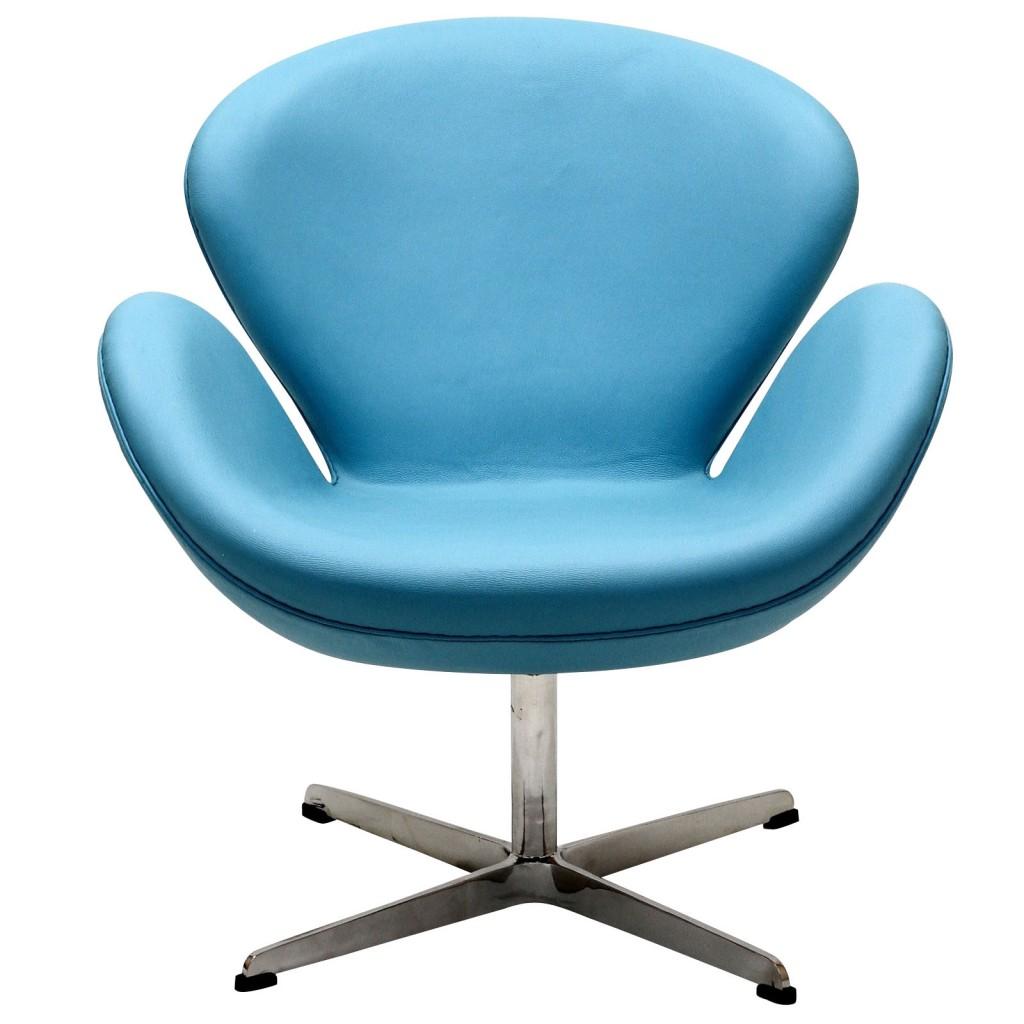 Hug Leather Chair Light Blue 4