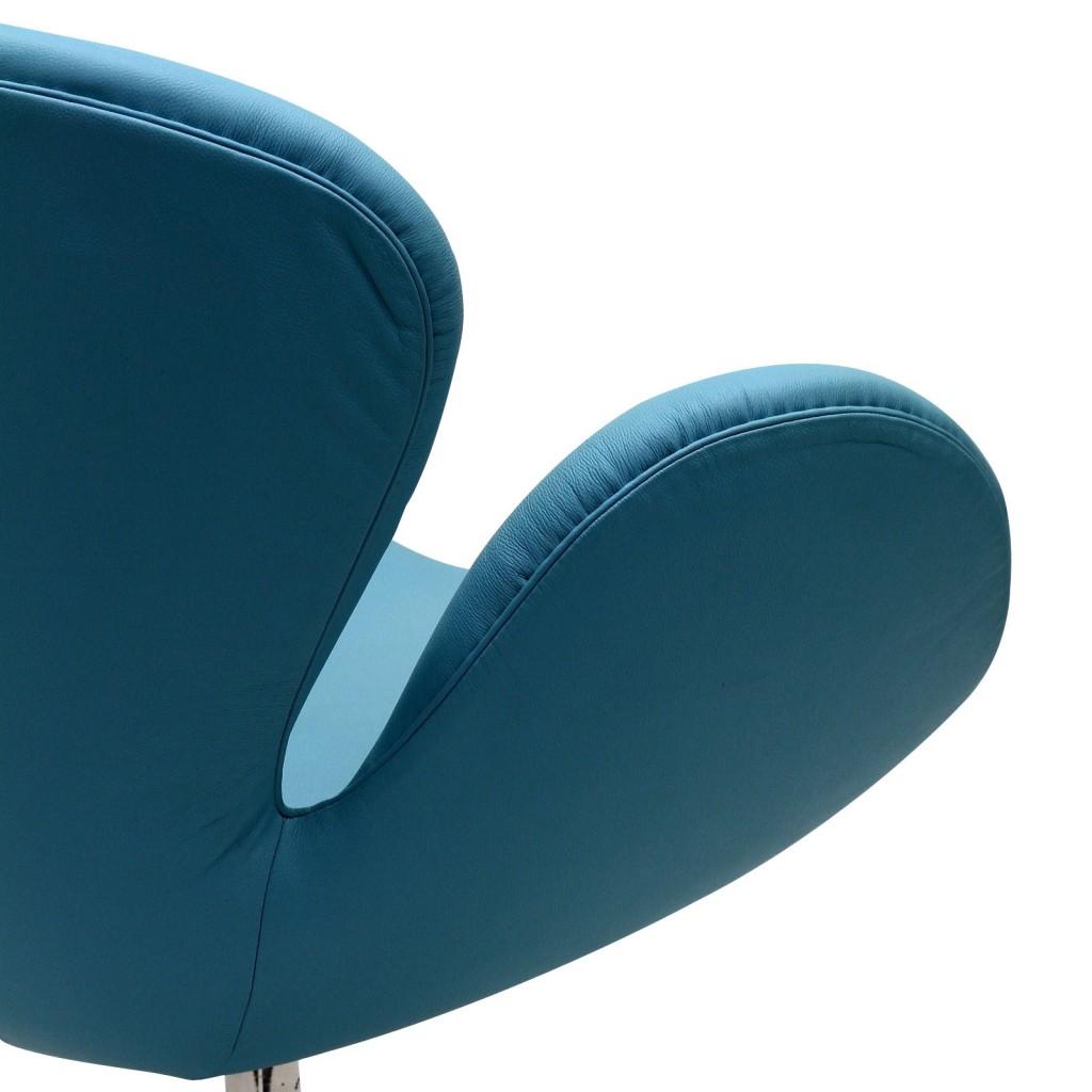 Hug Leather Chair Light Blue