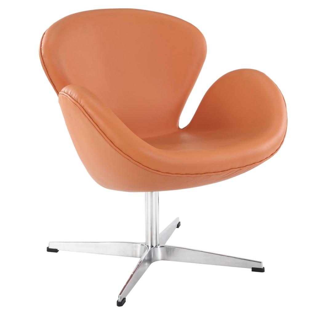 Hug Leather Chair Light Orange 3