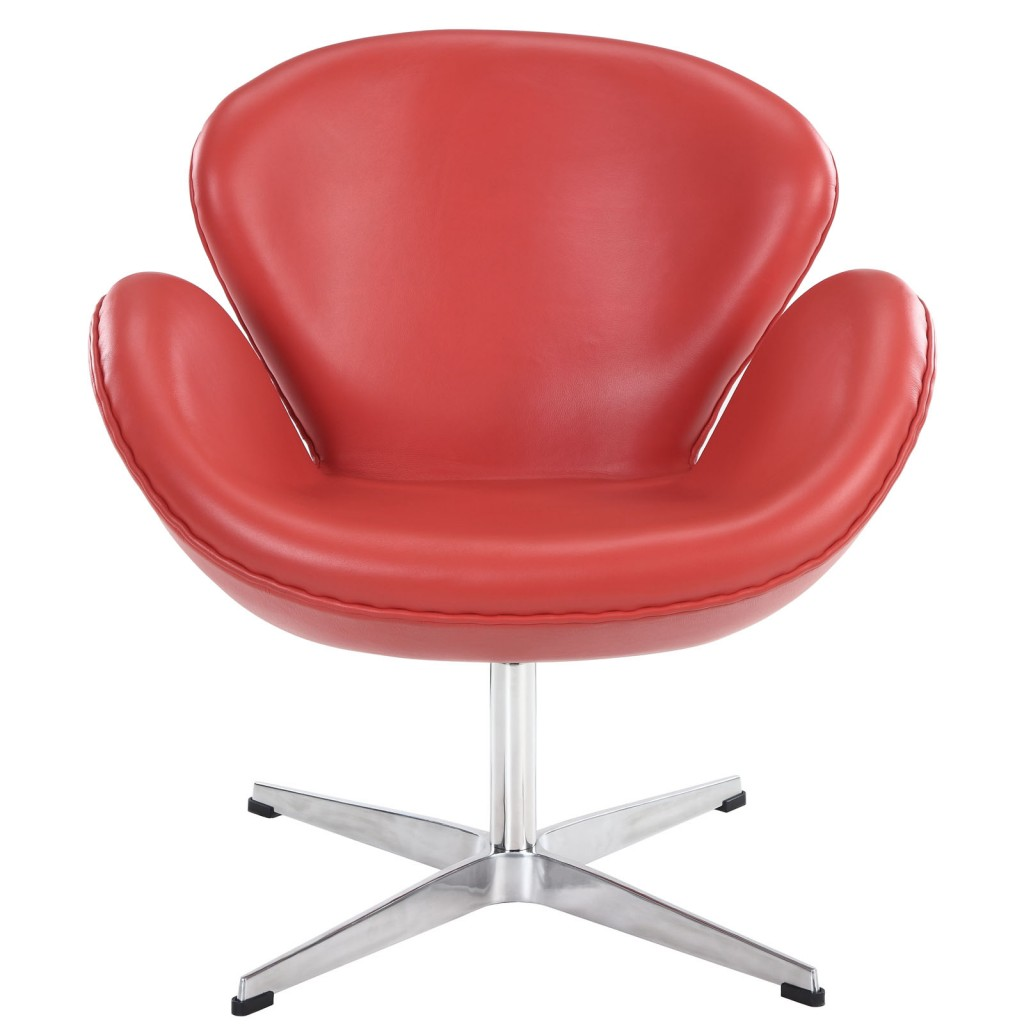Hug Leather Chair Light Red 3