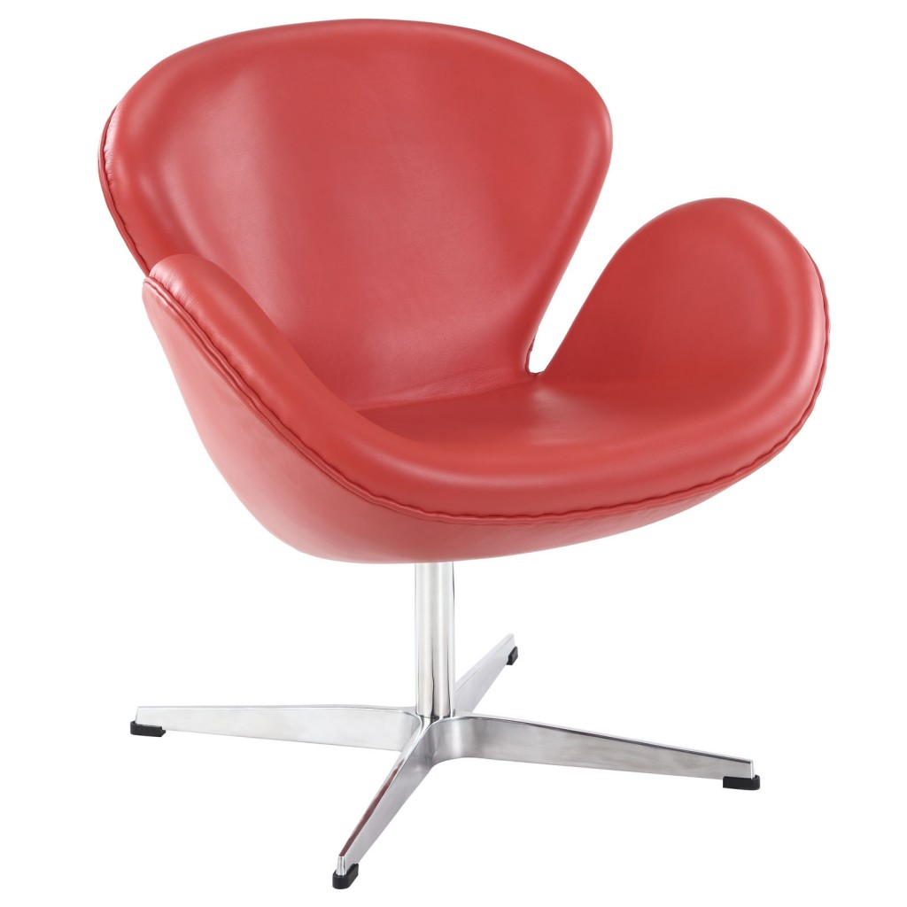 Hug Leather Chair Light Red 4
