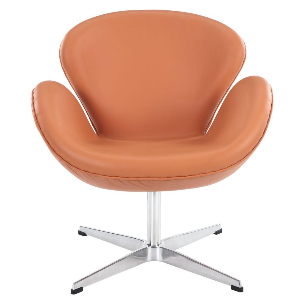Hug Leather Chair Orange 2