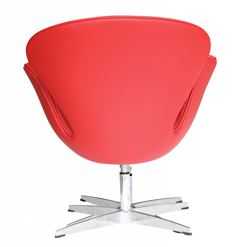 Hug Leather Chair Red 3