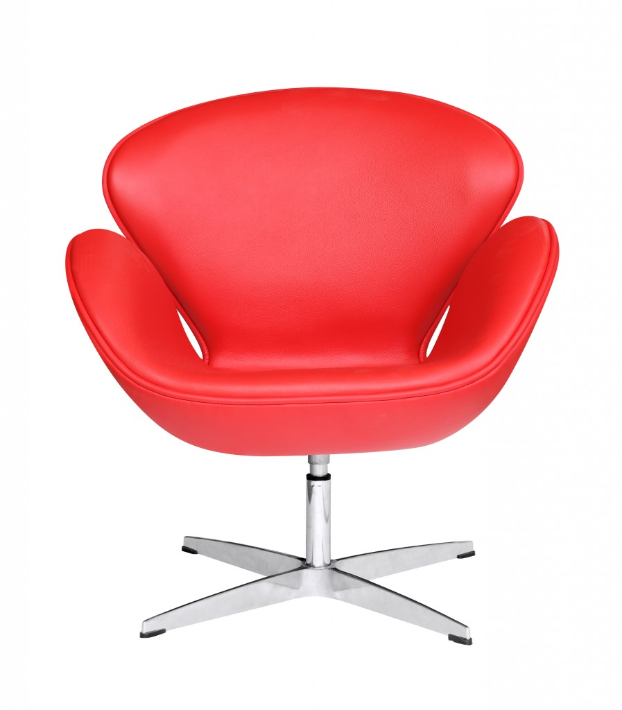Hug Leather Chair Red