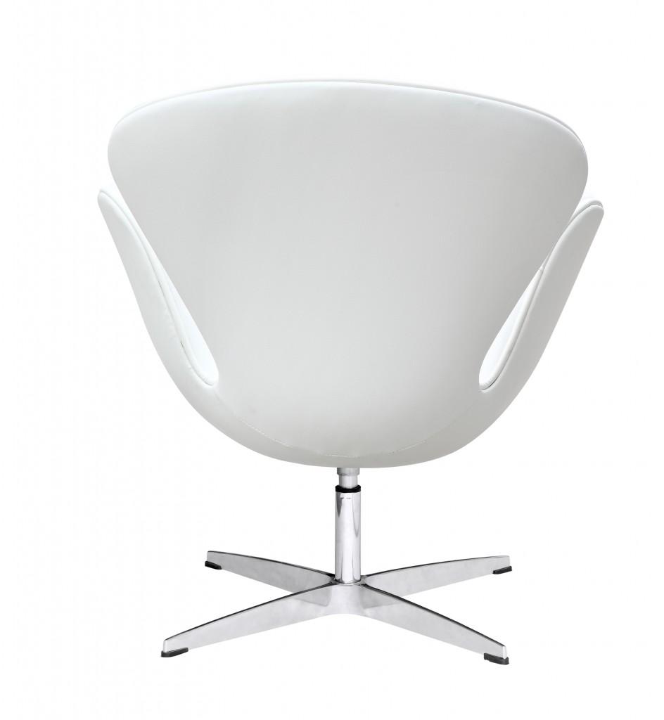 Hug Leather Chair White