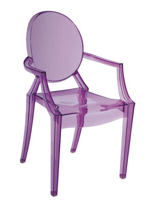 Kids purple throne chair