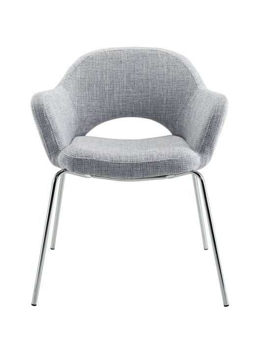 Light Gray Solid Armchair 2