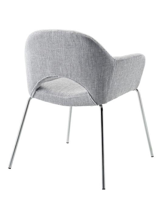 Light Gray Solid Armchair 3