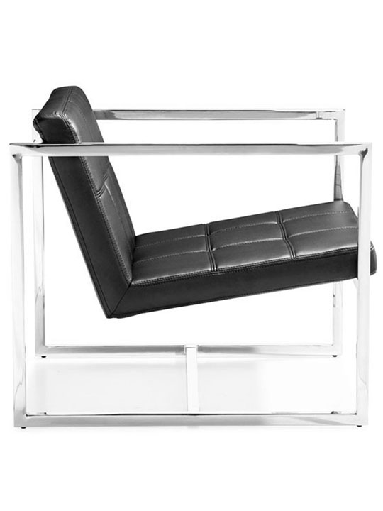 Luxe Leather Lounge Chair